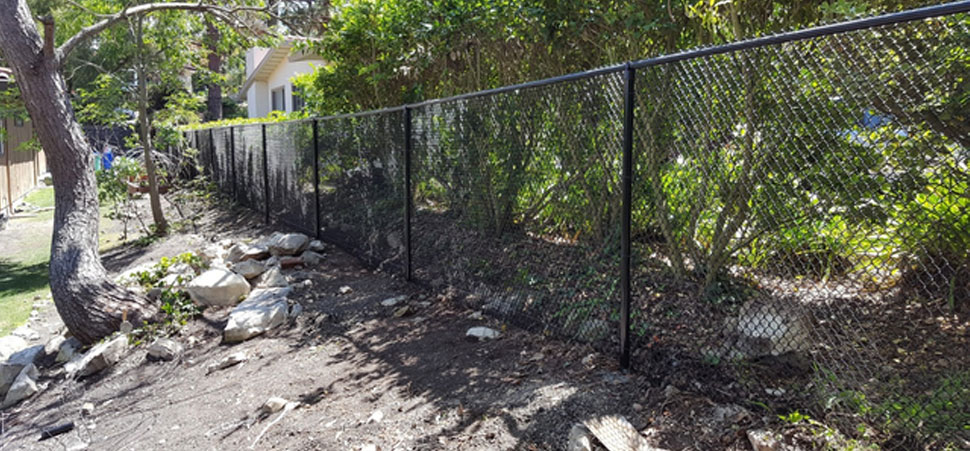 Black Chain Link Fences