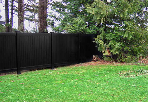Black Vinyl Fence Los Angeles Ca Installation Privacy