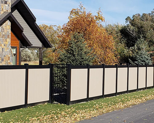 Los Angeles Black Vinyl Fence Railings