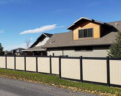 LA Black Vinyl Privacy Fencing