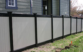 LA Custom-Built Black Vinyl Fencing