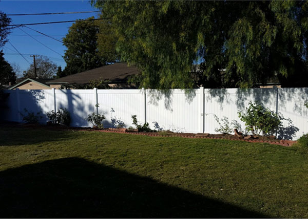 Vinyl Privacy Fence Installation in Whittier
