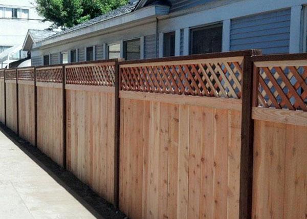 Redwood Dog Eared Fence Gates