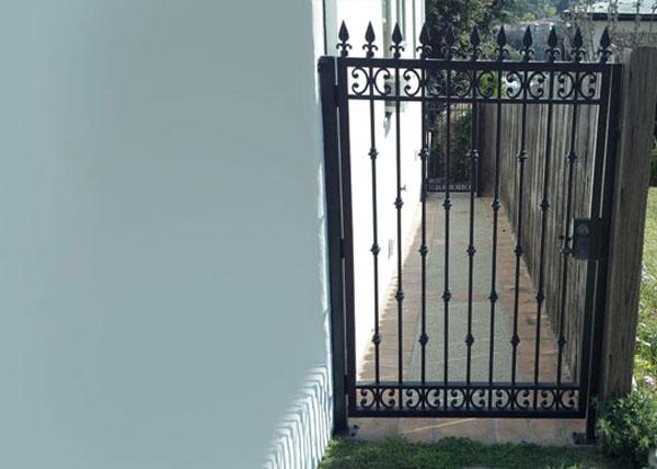 How To Install Iron Gate Fence Best Idea Garden