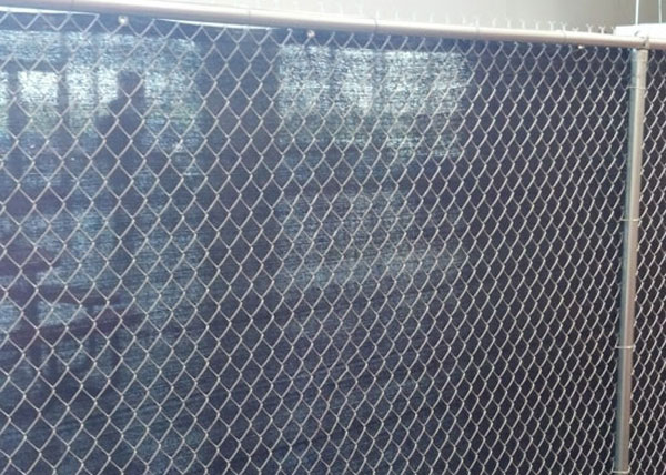 chain link fence privacy screen. J\u0026J Fence Recently Completed This Chain Link Installation In La Mirada, CA. The Features A 6-foot Tall Semi-privacy Screen And Is Privacy