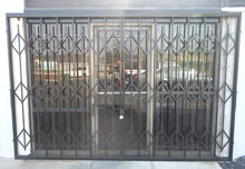 Storefront Amp Window Folding Security Steel Gates Los