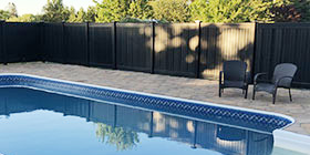 Maintenance Free Black Vinyl Fencing