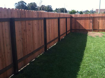 Home Yard Wood Fencing