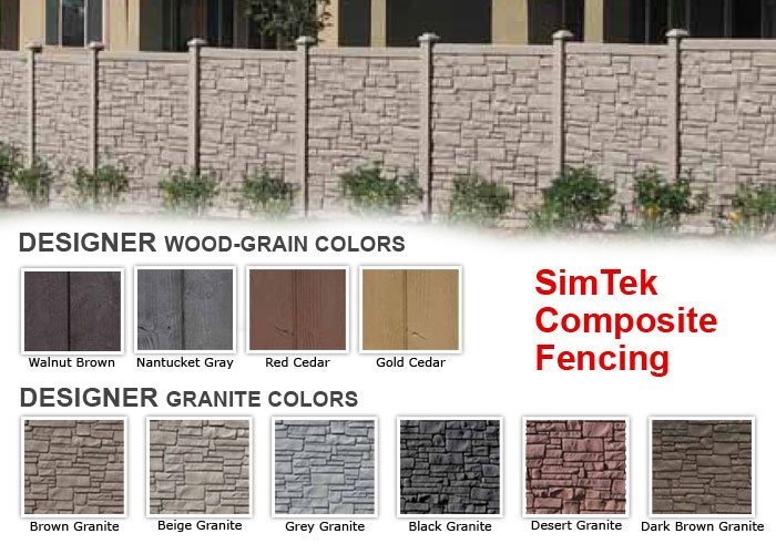 Best Wood Grain Fence Colors