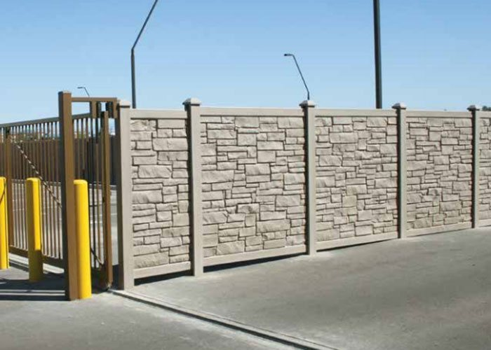 Los Angeles Simtek Ecostone Fence