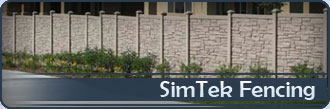SimTek Vinyl Fence Los Angeles