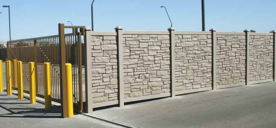 Long Beach Simtek Ecostone Fence