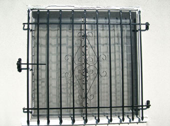 Iron Security Window Bars Grates Amp Grills Los Angeles