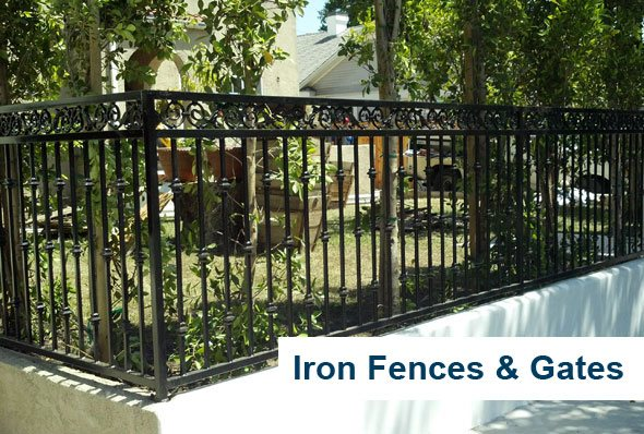 Wood Picket Fence Los Angeles Rod Iron Fencing