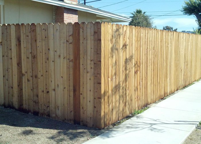 Wooden Yard Fencing